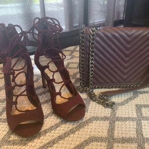 ALDO Lace up heels /matching purse bundle